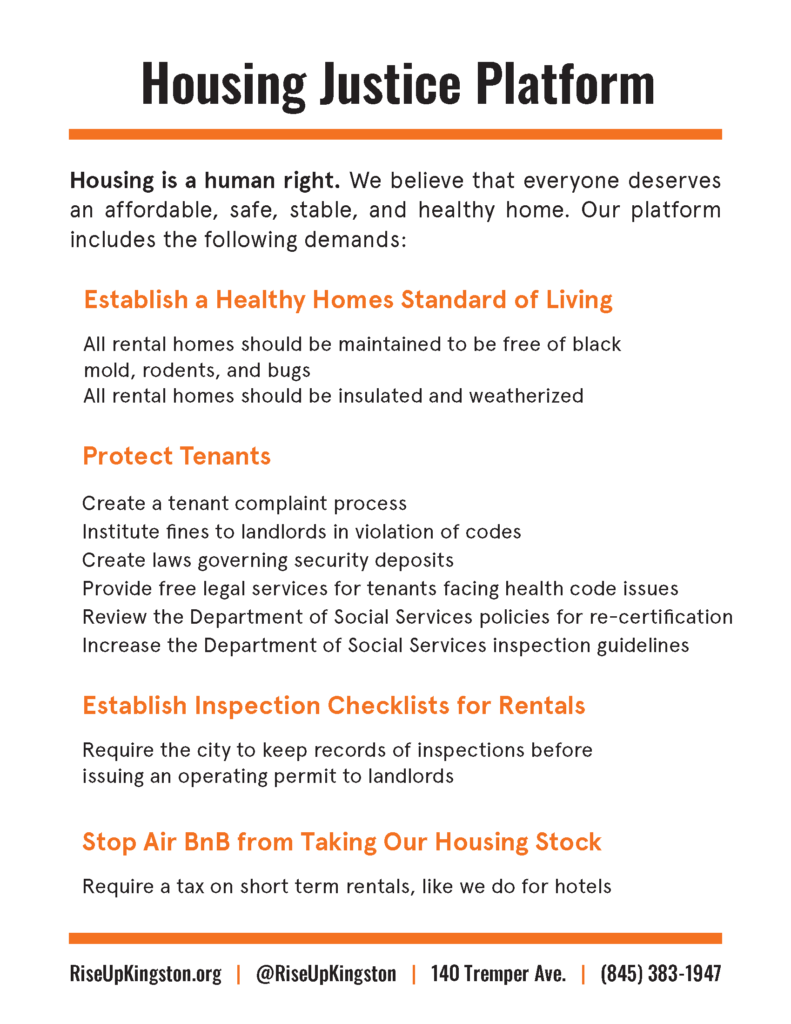 Housing Justice Platform